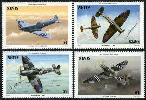 Nevis MNH 460-3 Spitfire Fighter Planes 1986