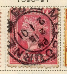 Victoria 1890-91 Early Issue Fine Used 1d. 326784