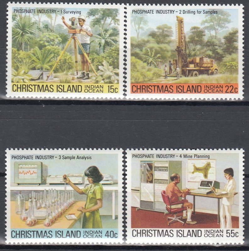 Christmas Island MNH 95-8 Phosphate Industry 1980