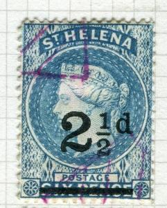 ST. HELENA; 1884-94 early classic QV issue fine used 2.5d. value