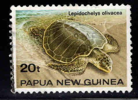 PNG Papua New Guinea Scott 595 Used Turtle stamp