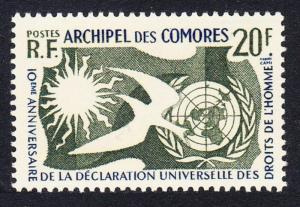 Comoro Is. Declaration of Human Rights 1v issue 1958 SG#19 SC#44 MI#38