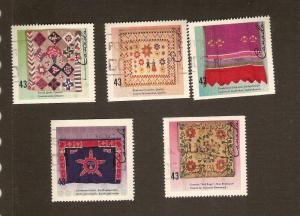 CANADIAN  SET ON HAND CRAFTED TEXTILES USED STAMPS  LOT#92