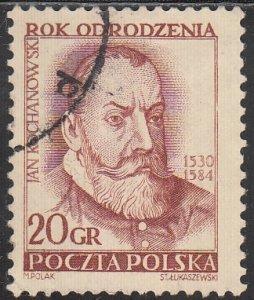 Poland, Sc 592, Used, 1953, Jan Kovhanowski