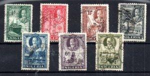 Nigeria 1936 KGV fine used set SG34-41 WS16234