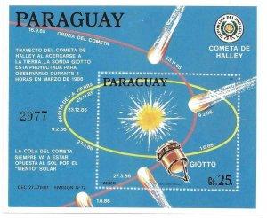 1986    PARAGUAY  -  HALLEY'S COMET   -  MNH