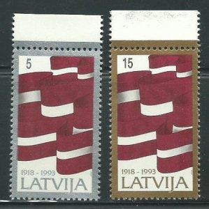 1993 Latvia Scott Catalog Number 353-354 Unused Never Hinged