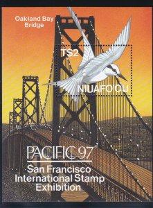Tonga - Niuafo'ou # 198 Pacific '97 Stamp Exhibition, Oakland Bay Bridge, NH 1/2