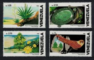 Venezuela Oilbird Nightjar Turtle Cacti Birds and Flora 4v SG#2471-2474