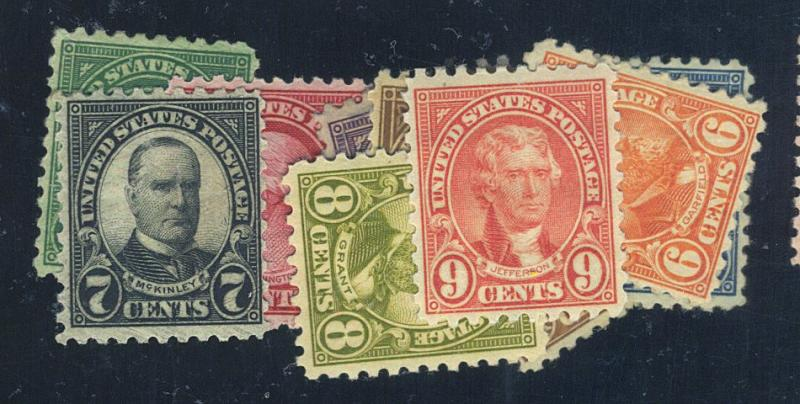 581-91 MINT F-VF OG HR Cat$181.75