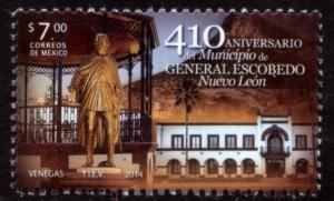 MEXICO 2867, Ciudad Escobedo, N.L., 410th Annivers. MINT, NH. VF.