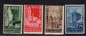 $Belgium Sc#258-61 M/NH/F-VF, complete set, Cv. $50