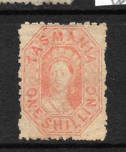 TASMANIA  1865-71  1/-    QV   MLH      P12   SG 77