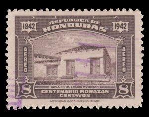 HONDURAS  AIRMAIL STAMP 1942  SCOTT # C122.