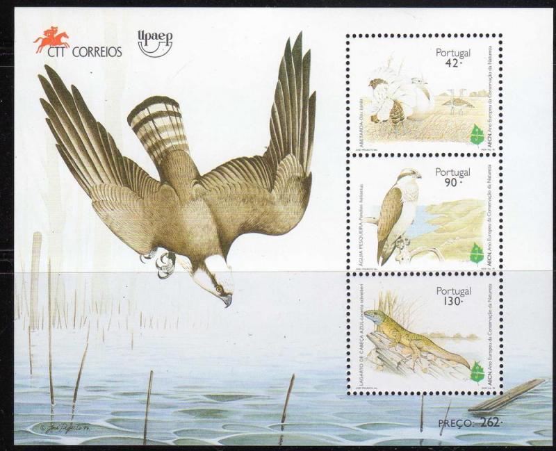 Portugal Scott 2041a MNH! Souvenir Sheet! Falcons Birds!