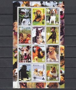 Kosovo, 2000 Russian Local. Various Dogs sheet of 9. ^