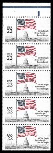 PCBstamps      US #2116a B Pane $1.10(5x22c)Flag over Capital, MNH, (3)