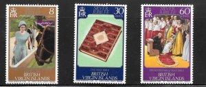British Virgin Islands  (1977)  - Scott # 317 - 319, MNH