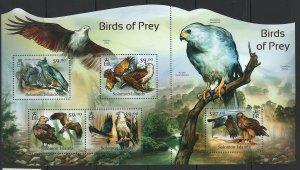 Solomon Islands Scott 1181 Souvenir Sheet MNH! Birds of Prey!