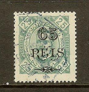 Angola, Scott #73b, 65r on 25r King Carlos, Used