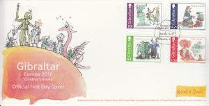 Gibraltar 2010 FDC Europa Children's Books Roald Dahl 4v Set Cover Matilda BFG