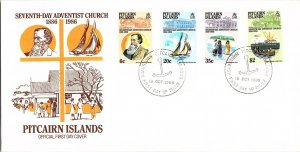 Pitcairn Island, Worldwide First Day Cover, Religion