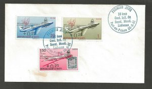 1961 Haiti airplane ovpt Boy Scouts Conference FDC