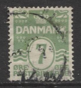 Denmark - Scott 91 - Definitive Issue -1926 - Used - Single 7o Stamp