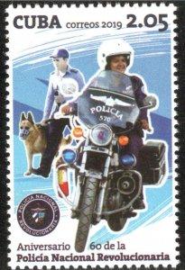 CUBA 2019  NATIONAL POLICE - MOTORCYCLE bike  2019  MNH