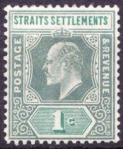 MALAYA STRAITS SETTLEMENTS 1902 KEVII 1 Cents Grey-Green SG110 MH
