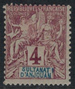 Anjouan #3  CV $5.50
