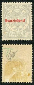 Swaziland SG10a 1892 1/2d Grey Overprint Swazieland in carmine INVERTED M/M