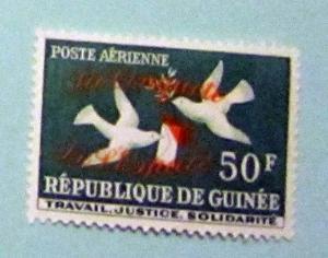 Guinea - C36, MNH. Dove, Letter, Ovpt. SCV - $0.60