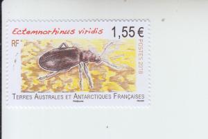 2018 FSAT Fr Antarctic Weevil - Ectemnorhinus Viridis  (Scott 582) MNH