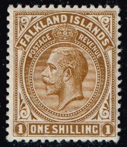 UK STAMP Falkland Islands #35 1912 -1920 King George V 1SH MLH/OG