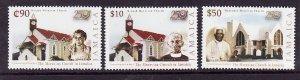 Jamaica-Sc#1001-3-Unused NH set-Moravian Church-2004-
