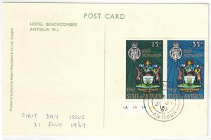 ANTIGUA - FDC Coat of Arms 1967 SG206-207