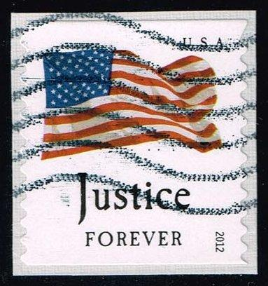 US #4638 Flag and Justice; Used on paper at Wholesale