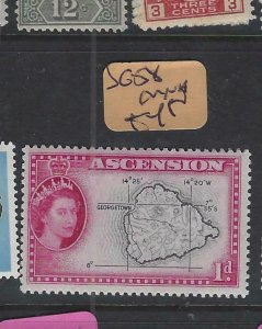 ASCENSION (PP2501B)  QEII  1D  MAP  SG  58   MNH