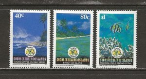 Cocos Islands Scott catalog # 267-269 Mint NH