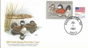 RW48  FDC, Ruddy Ducks, Fleetwood