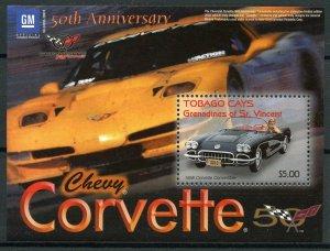 Tobago Cays Gren St Vincent 2003 MNH Chevrolet Corvette 50 1v S/S Cars Stamps