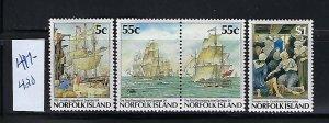 NORFOLK ISLAND SCOTT #417-420  1987 BICENTENNIAL TYPE- MINT NEVER HINGED
