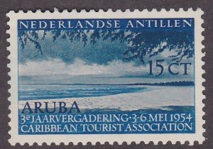 Netherlands Antilles # 221, Beach at Aruba, Hinged, 1/3 Cat.