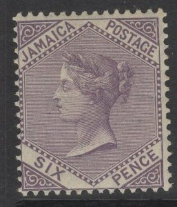 JAMAICA SG52a 1910 6d PURPLE MTD MINT