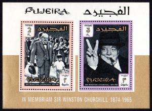 Fujeira Mi Block 3A (#68-69)  mnh - 1966 Winston Churchill - perf souvenir sheet