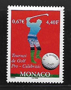 MONACO 2164 MNH GOLF PROFESSIONAL & CELEBRITY GOLF TOURNAMENT, MONTE CARLO IS...