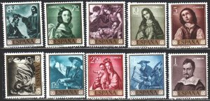 Spain. 1962. 1304-13. Painting. MNH.