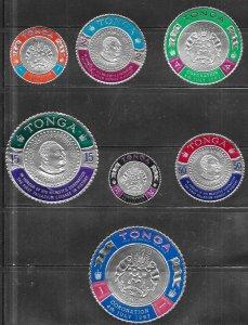 Tonga #175-181  Gold Coins  (MNH)  CV $6.45