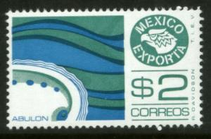 MEXICO Exporta 1117 $2P Abalone Unwmkd Fosfo Paper 5 MNH